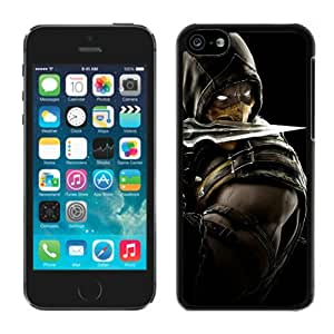 Mortal Kombat X Scorpion Equipment Black Durable Hard Shell iPhone 5C Phone Case