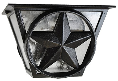 Melissa Lighting LS53 Western Outdoor Ceiling Mount from Lone Star Series Collection in Blackfinish ()