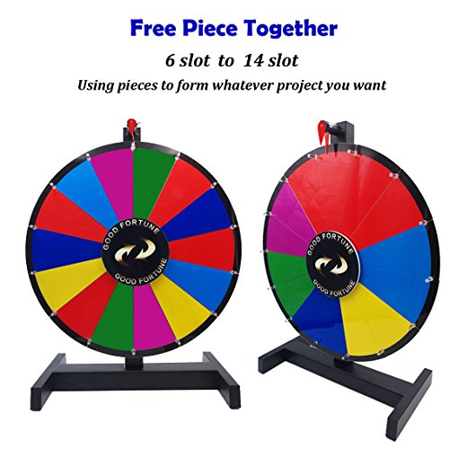 """24"""" Removable Composable Tabletop Spinning Prize Wheel Spin to Win Wheel Game with Dry Erase Marker and Eraser (24"""")"""