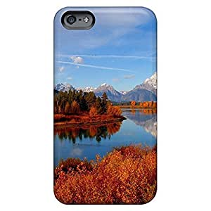 High Quality cell phone shells Durable Iphone Cases Abstact iPhone 5 5s - glorious river in autumn
