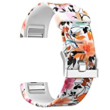 For Fitbit Charge 2 Bands, SKYLET Silicone Replacement Accessories Straps for Fitbit Charge 2 Watch Band (No Tracker)