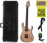 Schecter BANSHEE ELITE-7 Gloss Natural 7-String Solid-Body Electric Guitar, Case Bundle, 1252 CASE