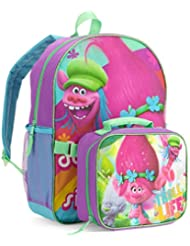 DreamWorks Trolls 16 Large Backpack with Insulated Lunch Tote Bag