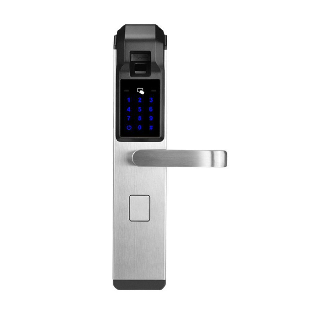 スマートドア ロック 指紋 生体認証 タッチ スクリーン ホーム セキュリティ キーレス タッチパッド デジタル コード ロック,元に戻せる状態 ハンドル-D B07C55MMH8 D D