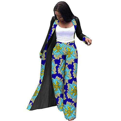 - Afripride African Clothes Two Piece Pants Set for Women Wax Ankara Print Batik Cotton A1926006 232X 6X