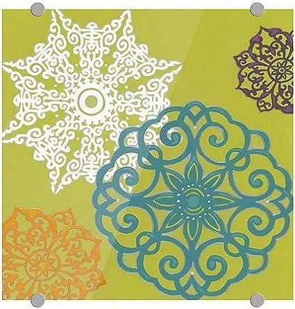 June VessVibrant Winter Lace I Premium Brushed Aluminum Sign   16x16 5-Pack CGSignLab