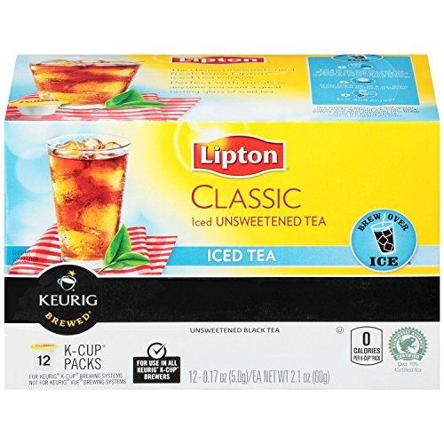 Lipton, Classic Iced Tea, K-Cup Single Serve, 12 Count (0.17oz Each) 2.1oz Box (Pack of 3) ()