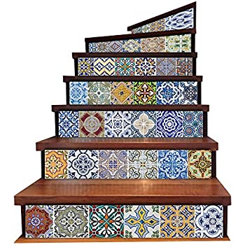 Backsplash Tile Stickers, DIY Tile Decals Mexican Traditional Talavera  Waterproof Peel And Stick Home Decor