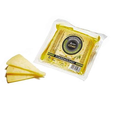 Ibéricos COVAP,queso de oveja de leche cruda viejo torremilano,cortado en aceite de