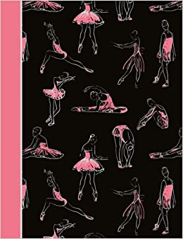 Black and Pink Dance Notebook