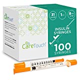 "Care Touch Insulin Syringes| 31g 5/16"" - 8 mm 1 cc"