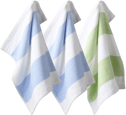 HUI JIN - Pañuelo de algodón para el hogar para niños, tamaño pequeño, Cuadrado, Absorbente, Cuadrado, pañuelo de algodón, Paquete de 3: Amazon.es: Hogar