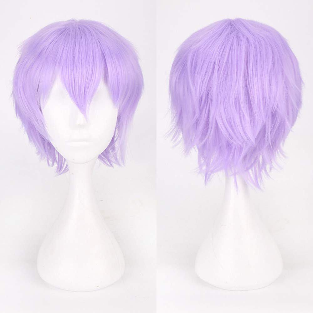 TT TAOtTAO Multi Color Short Straight Hair Wig Anime Party Cosplay Full sell Wigs 35cm Purple