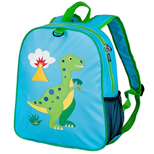 Wildkin Embroidered Backpack, Features Appliqued Design and Adjustable Straps, Perfect for Preschool, Daycare, and Day Trips, Olive Kids Design – Dinosaur