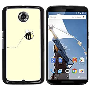 Impact Case Cover with Art Pattern Designs FOR NEXUS 6 / X / Moto X Pro Cute Yellow Bumblebee Summer Betty shop