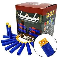 "EKIND 200 Pcs 7.2cm New Design TPR ""Waffles"" Soft Head Darts Refill Foam Bullet for Nerf N-strike Elite AccuStrike Guns(Blue)"