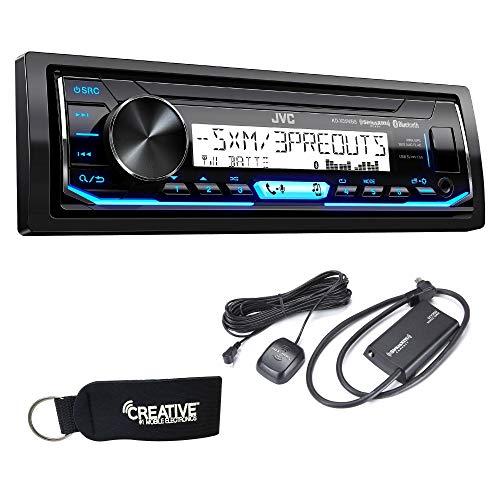(JVC KD-X35MBS Marine Radio with Sirius XM Tuner Bundle)