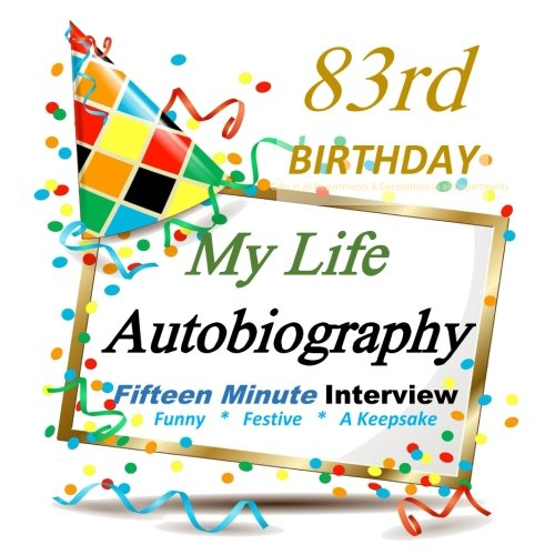 83rd Birthday: 83rd Birthday Autobiography, Party Favor for Guest of Honor, 83rd Birthday Party Decorations in all Departments, 83rd Birthday Card in all Departments