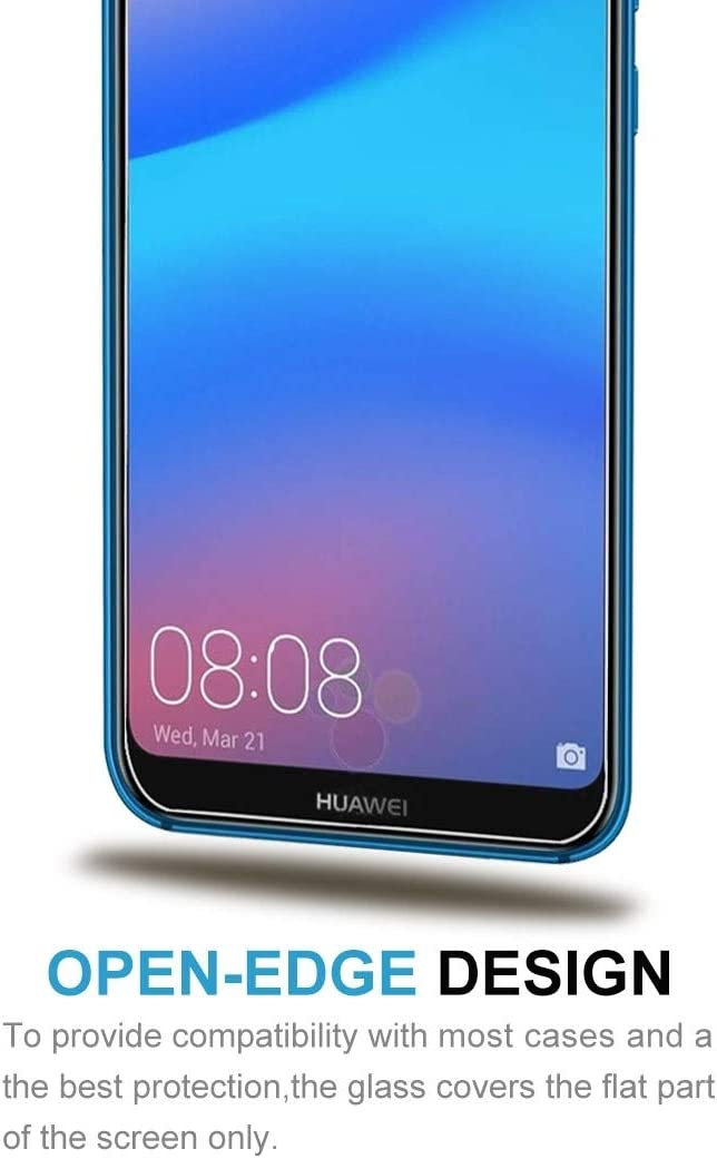 GzPuluz Glass Protector Film 50 PCS for Huawei P20 Lite 0.26mm 9H Surface Hardness 2.5D Explosion-Proof Tempered Glass Screen Film No Retail Package