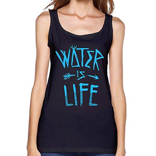 Water Is Life Ladys Tank Top Sleeveless Tee Shirt L