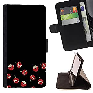 Jordan Colourful Shop - flowers red minimalist dark art For Apple Iphone 5C - Leather Case Absorci???¡¯???€????€?????????&