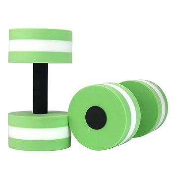 Aqua mancuernas, pesas Power 1 par de espuma para agua de pesas fitness, Obstrucción nadar übung, verde: Amazon.es: Deportes y aire libre