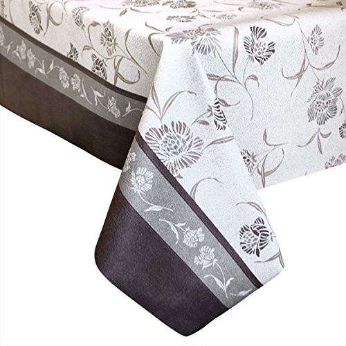 LEEVAN Heavy Duty Waterproof Spillproof Wipe Clean Home Decoration Table Cover Tablecloth (54'' x 72''-140x185 cm, Vintage Floral) (Plastic Vintage Beads)