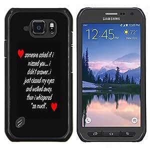 LECELL--Funda protectora / Cubierta / Piel For Samsung Galaxy S6Active Active G890A -- MENSAJE DEL AMOR --