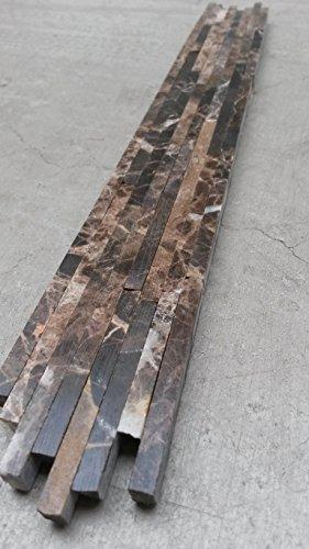 Marmor Mosaik Bordüre 4X30 Cm Matchstick Naturstein Fliesen Braun