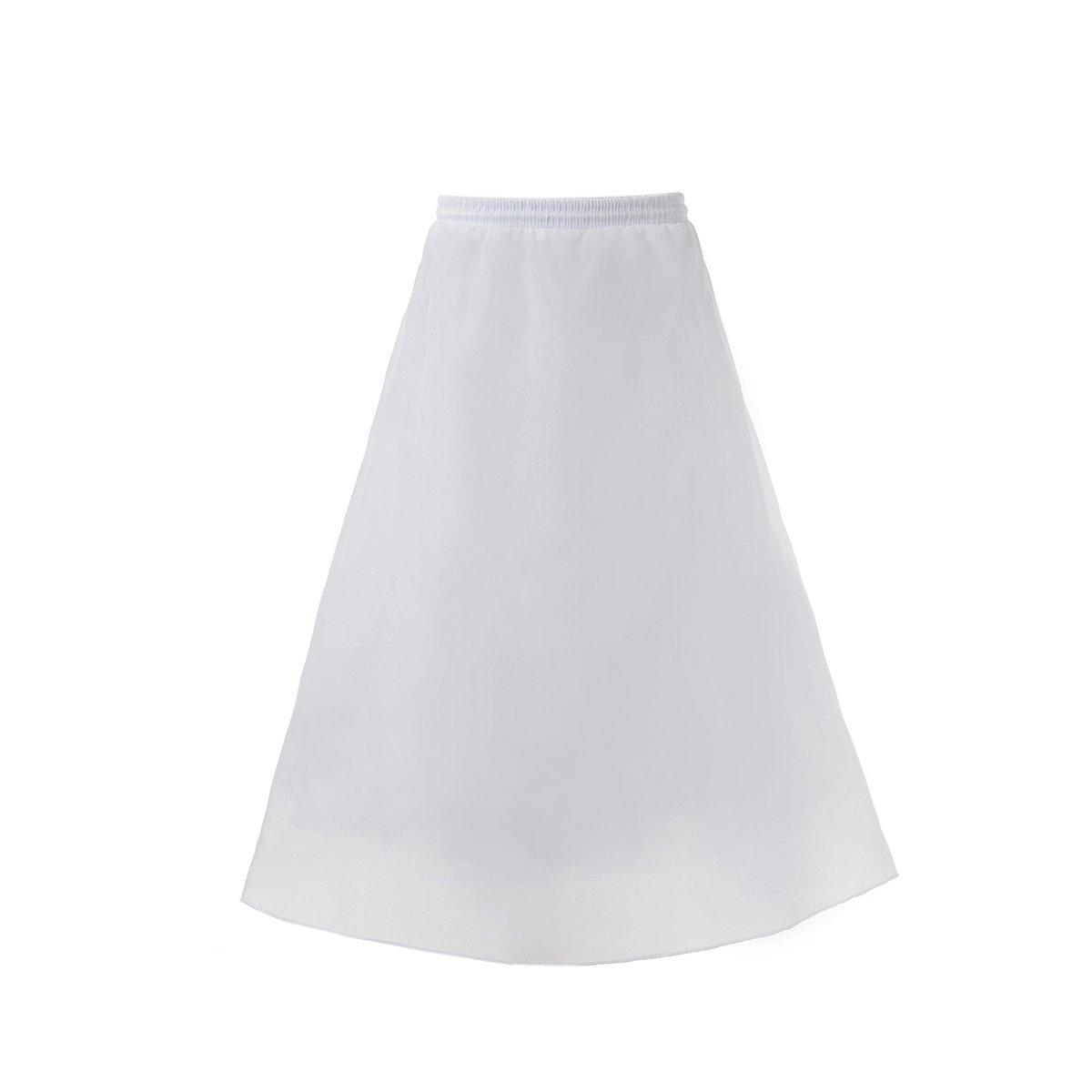 AWEI Girls Hoopless Petticoat Full Slip Kids Wedding Tutu Crinoline Underskirt AWUSQC150U012