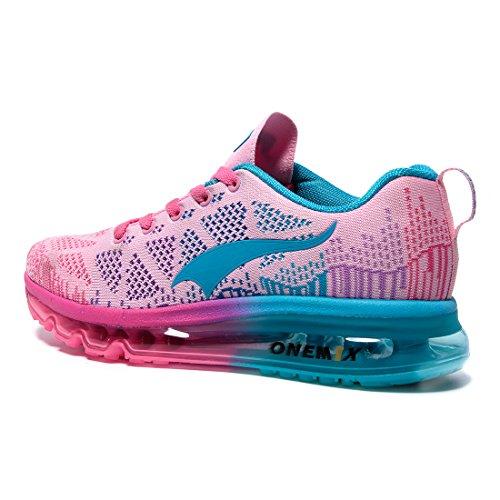 y Aire Running Rosa para en Exterior Mujer Correr Onemix de Asfalto Zapatillas Zapatos Deportes Libre UpHx0w1