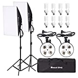 "MOUNTDOG 1600W Studio Softbox Lighting Kit Photography Lighting Lights 8X 45W Bulbs, 20""x 28"" Soft Boxes, 4-Head Socket, Light Stand and Carrying Bag"