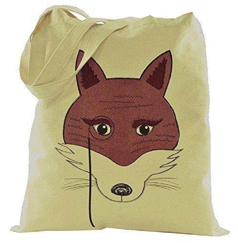 Femmes Toile Coton Animal Design Épaule / Sac Cabas Fox