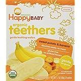 Happy Baby Gentle Teethers Organic Teething Wafers, Banana and Sweet Potato, 12 Count