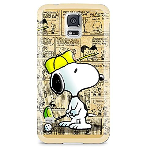 [Ashley Cases] TPU Clear Skin Cover Case for Samsung Galaxy S5 - Charlie Brown Snoopy Cartoon (Snoopy S5 Case)