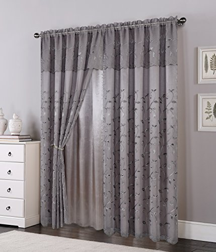 red and gray curtains - 5