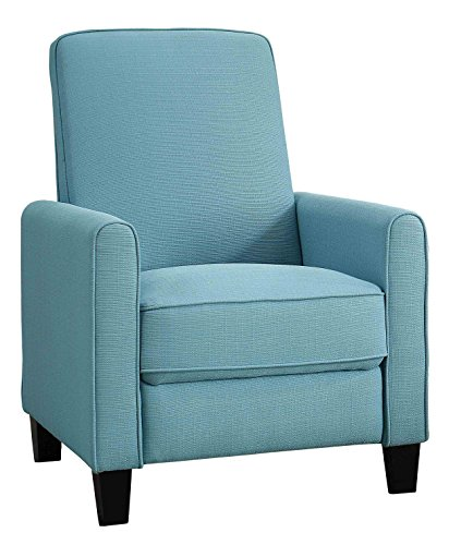 Homelegance Cavelle Fabric Push Back Reclining Chair, Blue - Blue Fabric Recliner