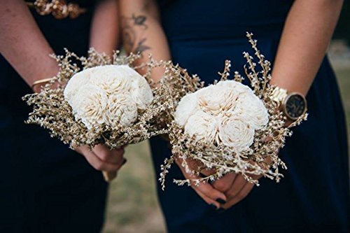 Small-Rustic-Wedding-Bridesmaids-Bouquets-Made-of-Ivory-Flowers-Dried-Limonium-Burlap-Lace-and-Pearl-Pins