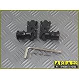 Area 22 Kawasaki Z125 Z 125 Pro Z125 2016 Swingarm Spool Adapters Mounts Black