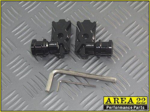 Area 22 Kawasaki Z125 Z 125 Pro Z125 2016 Swingarm Spool Adapters Mounts Black A22SP03B