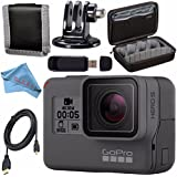 GoPro HERO5 Black CHDHX-501 + Custom GoPro Case for GoPro HERO and GoPro Accessories + Tripod Adapter For GoPro Bundle