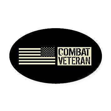 Cafepress u s military combat veteran bla oval car magnet euro oval