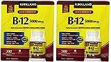 Kirkland Signature Sublingual B-12 5000 mcg, 300 Tablets (2 Pack)