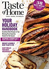 Taste of Home Magazine is one of the top cooking and recipe magazines in the world. Each issue contains more than a hundred recipes along with tips for creating new recipes from ingredients you already have on hand. Whether you cook for a cro...