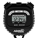 MARATHON ADANAC 3000 Digital Sports Stopwatch Timer, Water Resistant, Color - Black