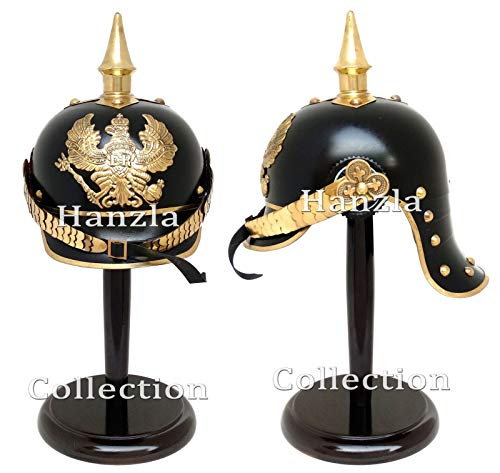 (Historicalhub German Officer's Armour Prussian Pickelhaube Brass Spiked WWI Helmet with)
