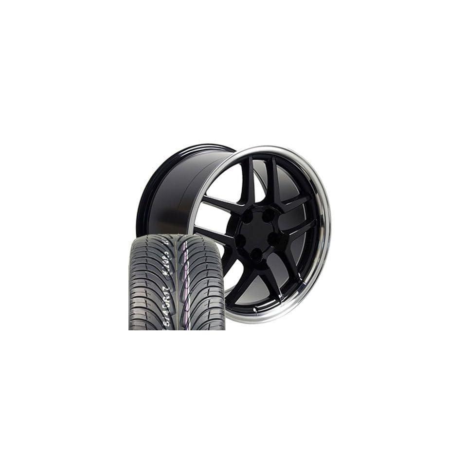 17 Fits Camaro Corvette   Z06 Style wheels tires   Black