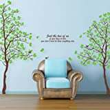 Large Beautiful Nature 2 Trees Decoration Wall Decals In 2 Sheets