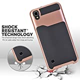 LG Tribute HD Case,LG X Style Case,LG Volt 3 Case, Asstar Hybrid Dual Layer Armor Shock Absorption Impact Resistant Protective Case For LG Tribute HD/LG X Style LS676/LG Volt 3 (Rose gold)