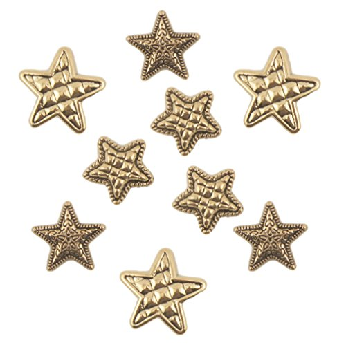 Buttons Galore Craft & Sewing Buttons - Gold Stars - 3 Packs (27 Buttons)